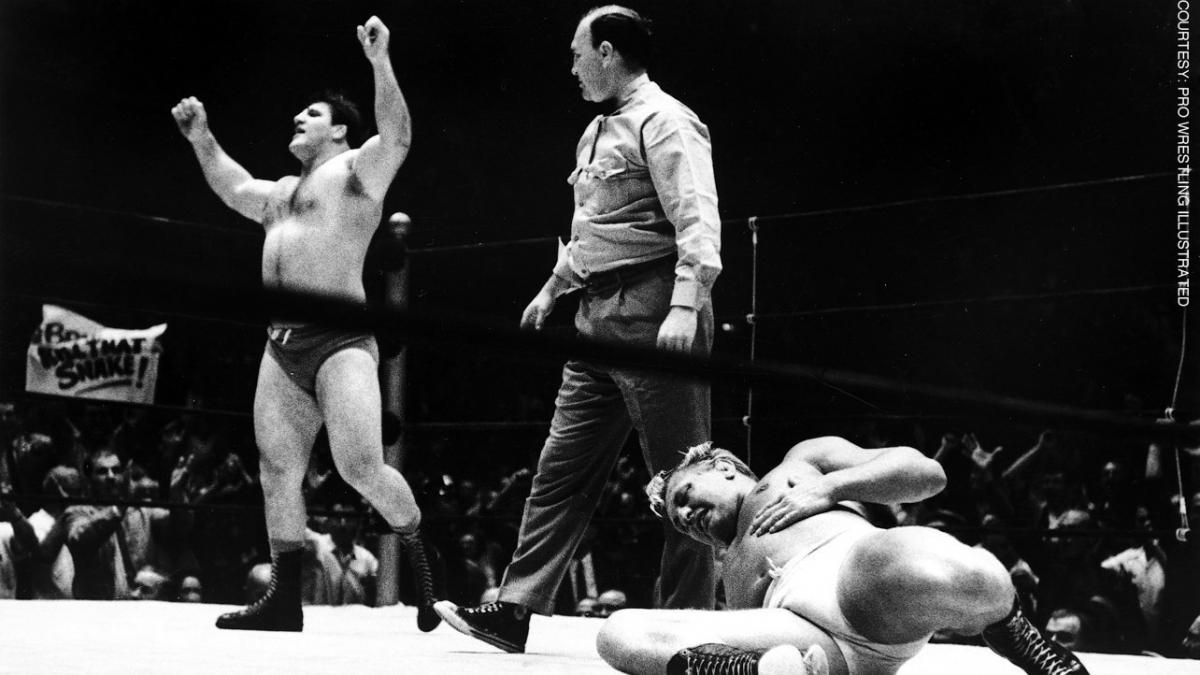 Bruno-4....winning the WWWF Title from Rogers