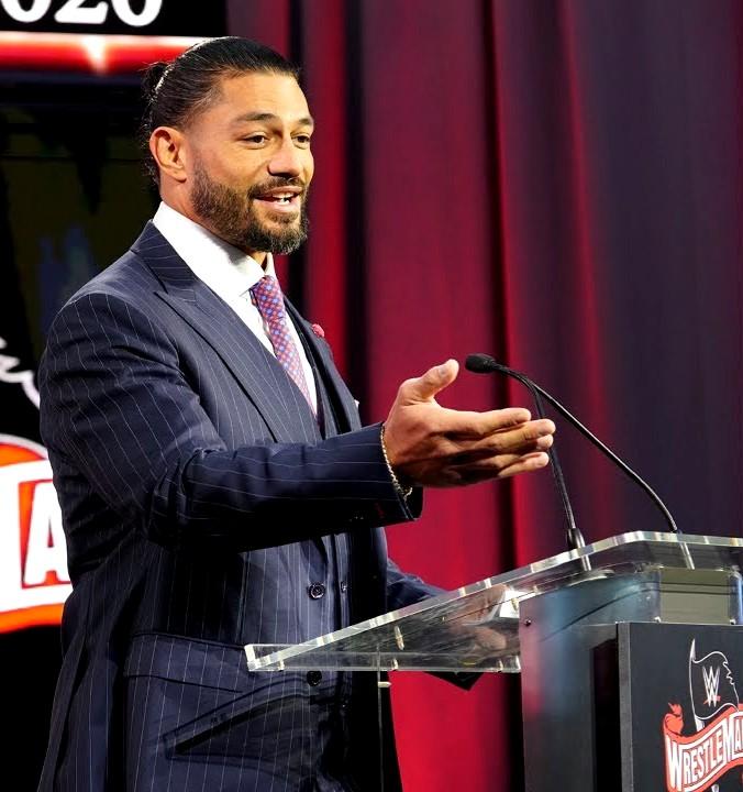 Roman Reigns WM36 press conference